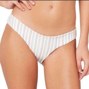 L*SPACE Becca Tilley Sandy Stripe Bikini Bottoms L